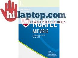 McAFEE Antivirus Plus Activation Card Download Version 1User (1PC) MRP 600RS NOW 120RS