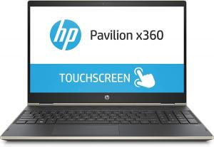 HP Pavilion 15-cr0053wm X360 Touch Convertible Laptop, Intel Core i5-8250U Processor; 8GB SDRAM Memory, 16GB Intel Optane Memory, 1TB Hard Drive, Pale Gold