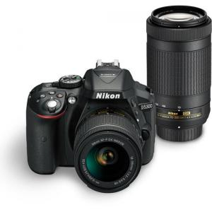Refurb Nikon D5300 24.2MP Digital SLR Camera(Black) with AF-P 18-55 and AF-P DX NIKKOR 70-300mm f/4.5-6.3G VR Kit, Free Camera Bag and 16GB Memory Card